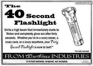 40 Second Flashlight