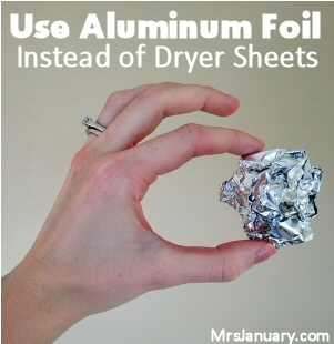 Aluminum Foil Dryer Sheets