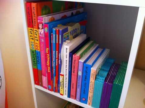Baby Books Organized