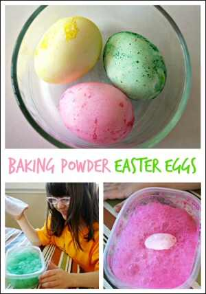 Baking Powder Easter Eggs