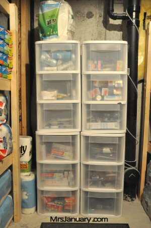 Bins for Organizing Stockpile