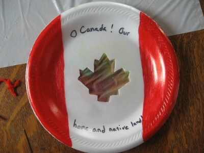 Canada Day Suncatcher
