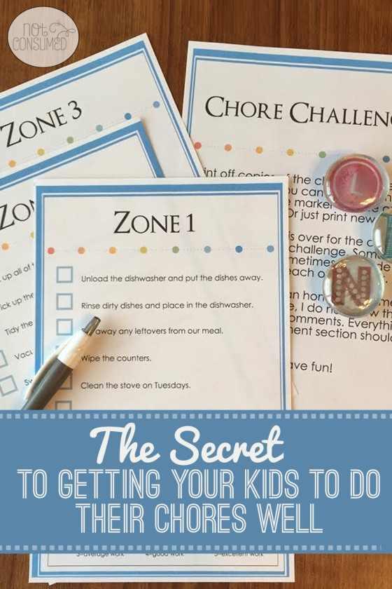 Chore-Challenge zones