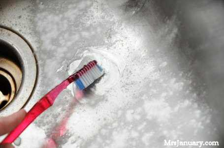 Cleaning With Toothbrush