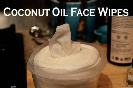 Coconut Oil Face Wipes