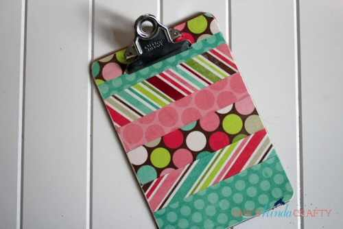 DIY Coloured Clipboard