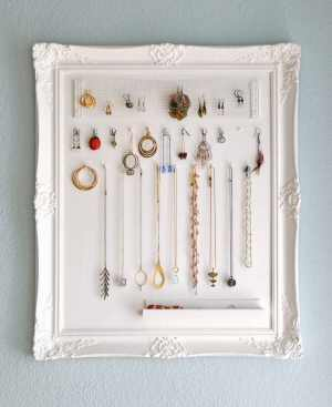 DIY Jewelry Storage Frame