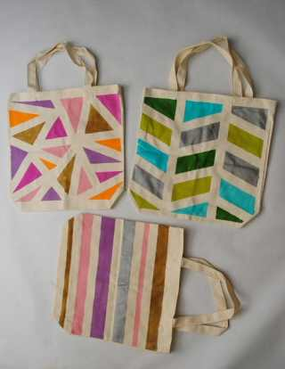 DIY Painted Tote Bags