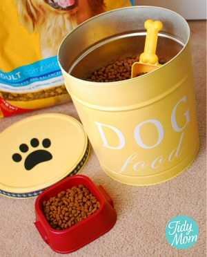 DIY Pet Food Canister