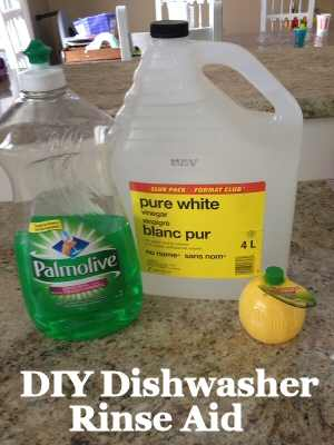 Dishwasher Rinse Aid DIY