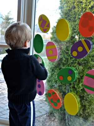 Easter Egg Window Art