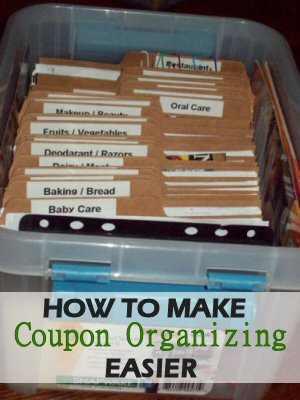 Easy Coupon Organizing