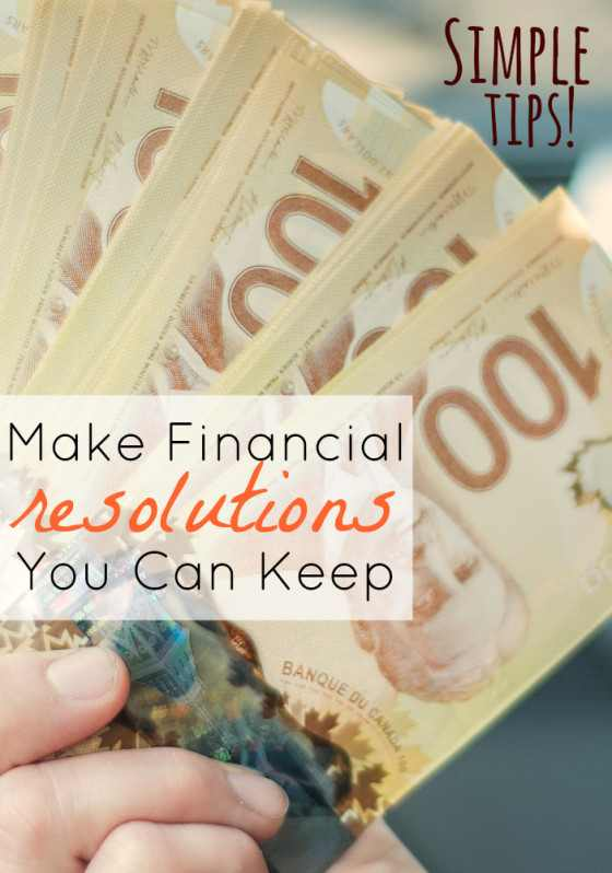 Financial Resolutions You Can Keep