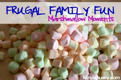 Frugal Fun with Marshmallows