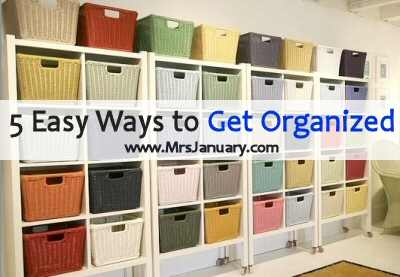 Get Organized Easily