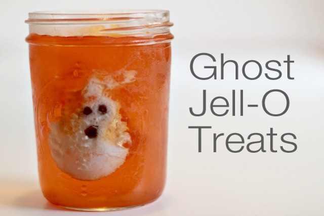 Ghost Jello Treats