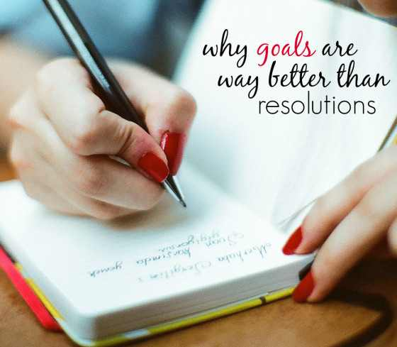 Goals Not Resolutions