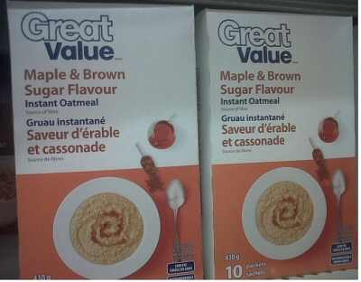 Great Value Oatmeal