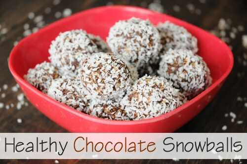 Healthy Chocolate Snowballs