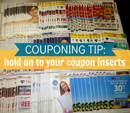 Hold on to Coupon Inserts