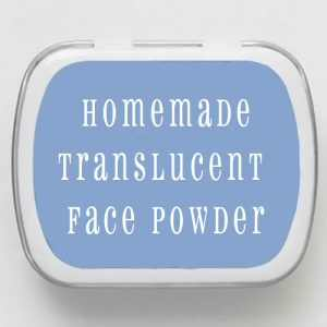 Homemade Translucent Face Powder