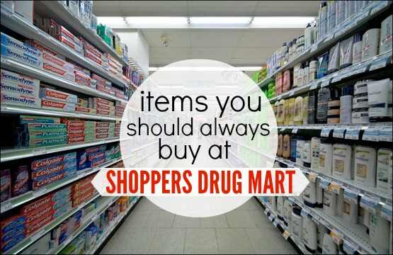 Items to Buy at Shoppers Drug Mart