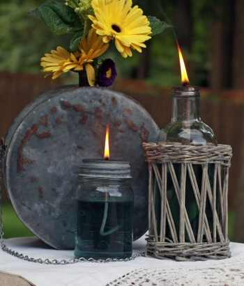 Mason Jar Oil Lamp {tutorial}