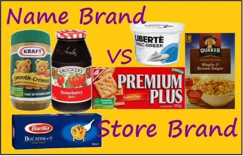 Name Brand vs Store Brand