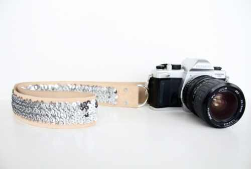 No Sew Sequin Camera Strap