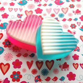 Ombre Heart Soaps