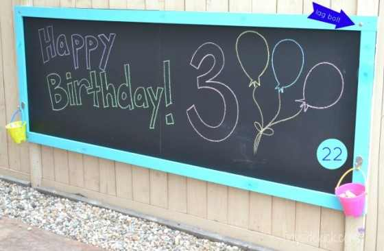 Outdoor Chalk Board