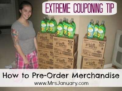 Pre Order Merchandise Couponing