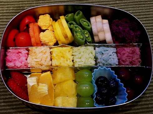 Rainbow Bento Lunch Ideas
