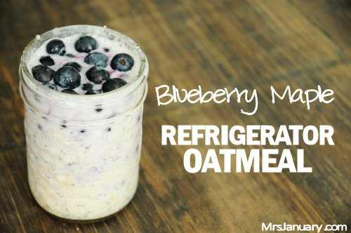 Refrigerator Oatmeal Blueberry Maple