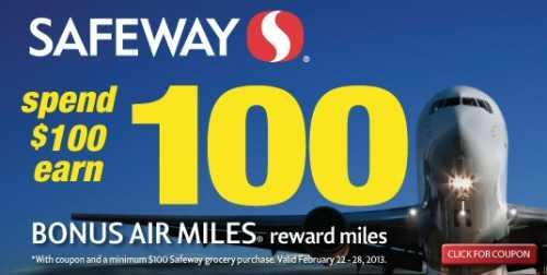 Safeway Air Miles