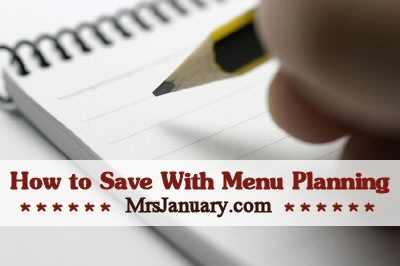 Save Money With Menu Planning