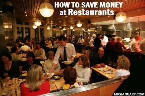 Saving Money at Restaurants