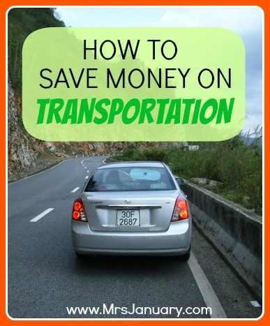Save Money on Transportation