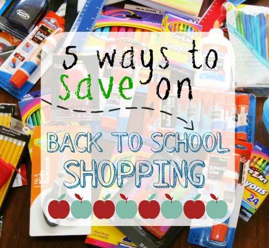 Save on Back to School Shopping