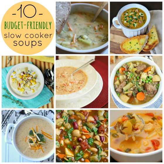 Slow Cooker Soups Budget Friendly