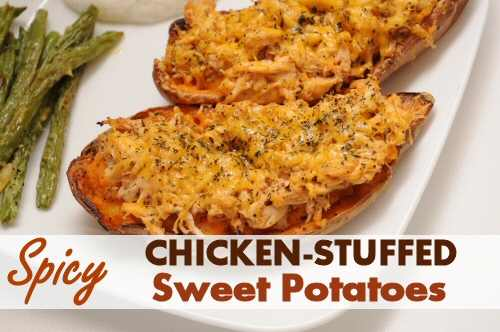 Spicy Chicken Stuffed Sweet Potatoes