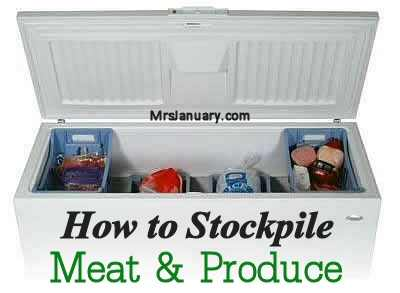 Stockpile Meat and Produce
