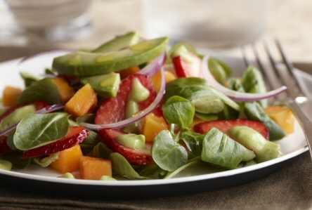 Strawberry Mache Salad