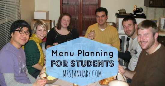 Students Menu Planning