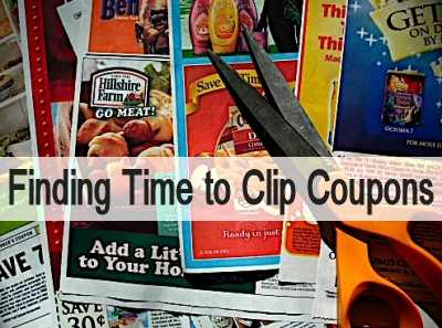Time to Clip Coupons