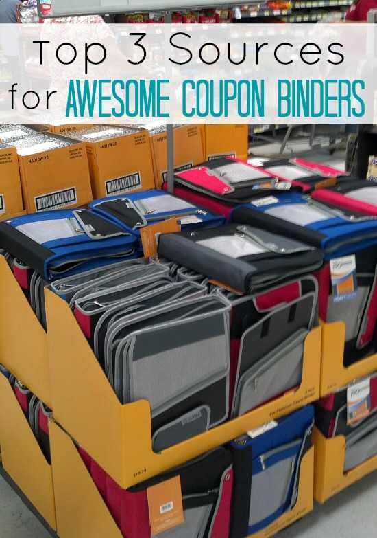 Top Sources for Coupon Binders