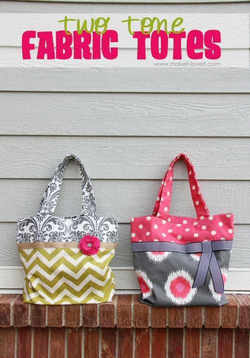 Two Tone Bags DIY