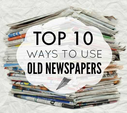 Use Old Newspapers