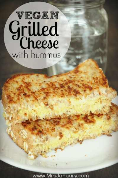 Vegan Hummus Grilled Cheese
