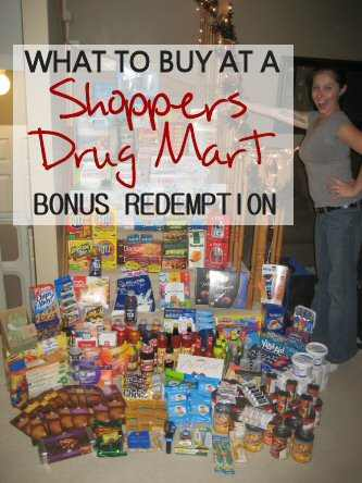 What to Buy at Shoppers Redemption